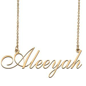 Custom Personalized Aleeyah Name Necklace